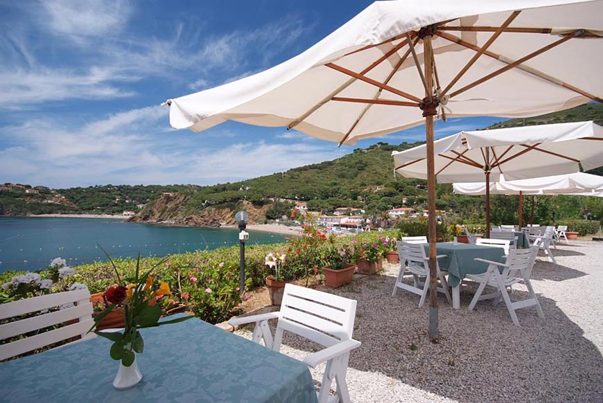 Hotel Dino, Island of Elba: a terrace over the sea