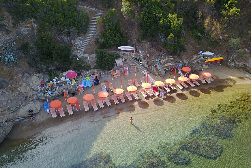 Hotel Dino, Island of Elba: the private beach