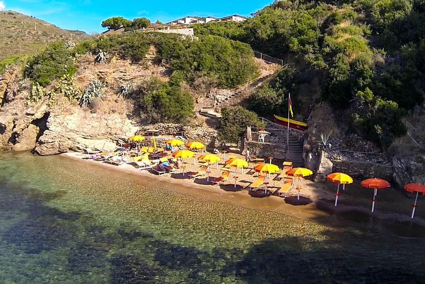 Hotel Dino, Island of Elba: private beach